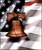 American Flag & Liberty Bell